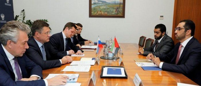 """نوفاك يبحث التعاون في مجال الطاقة مع رئيس """"أدنوك"""" الإماراتية"""