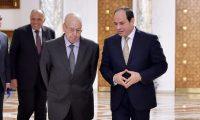 السيسي يناقش مع الرئيس الجزائري المؤقت العلاقات الثنائية