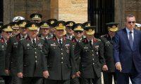 قرارات أردوغان تقيل 5 جنرالات في الجيش التركي