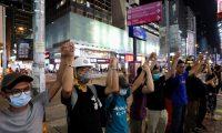 سلسلة بشرية لمتظاهري هونج كونج بطول 48 كم.. لجأوا لطريقة احتجاج دول البلطيق ضد «السوفييت»