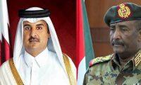 """أمير قطر يهنئ """"البرهان"""" بتشكيل المجلس السيادي بالسودان"""