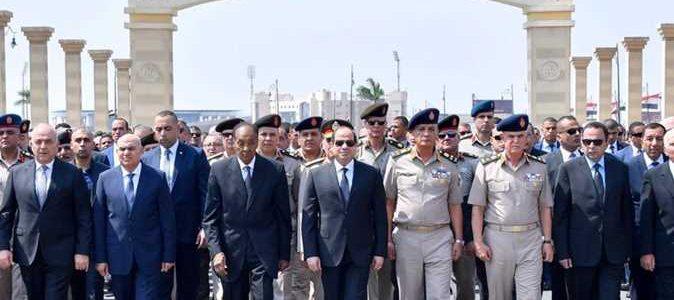 السيسي يتقدم الجنازة العسكرية للفريق إبراهيم العرابي رئيس الأركان الأسبق