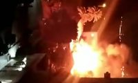 سيارات الدفاع المدني تهرع إلى حي حلوان لإخماد حريق في كنيسة مارجرجس