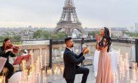 عرض زواج استمرّ سبعة أيام… بدأ في لوس أنجلوس وانتهى في باريس