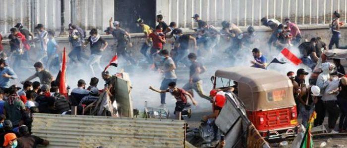 القوات العراقية تفتح النار على المحتجين ومقتل أربعة في بغداد