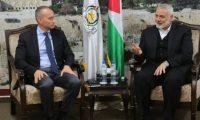 هنية يبحث مع ميلادينوف الانتخابات والتهدئة مع إسرائيل