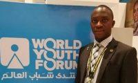 شاب ليبري يشعر بالامتنان لمصر والرئيس السيسي لحضوره منتدى شباب العالم