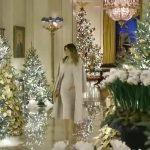 ميلانيا ترامب تبهر معجبيها بعيد الميلاد