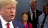 ترامب وجرينا ثونبرج وجها لوجه فى منتدى دافوس الاقتصادى.
