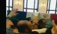 جمال مبارك يحمل نعش والده لأداء صلاة الجنازة عليه فى مسجد المشير طنطاوى
