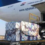 وصول طائرة شحن مصرية تحمل مليون قناع لمساعدة إيطاليا لمواجهة كورونا
