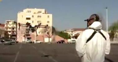 """فرنسا تستخدم طائرات """"الدرون"""" لتعقيم الشوارع من كورونا لأول مرة.. فيديو"""