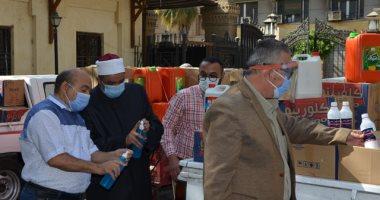 استعدادا لفتح المساجد توزيع مستلزمات التطهير والتعقيم على مديريات الأوقاف