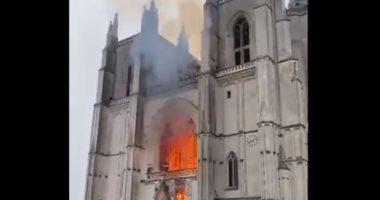 بدء التحقيق مع لاجئ رواندى فى فرنسا بعد اعترافه بإشعال النار بكاتدرائية نانت
