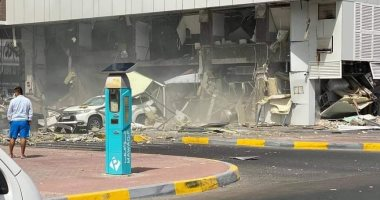 أثار انفجار مطعم فى أحد شوارع أبوظبى بسبب تسرب غاز