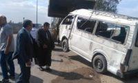 مصرع 8 أشخاص فى تصادم ميكروباص مع نقل على الطريق الإقليمى ببنها