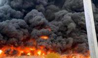 اندلاع حريق بسوق عجمان الشعبى بالمنطقة الصناعية بالإمارات