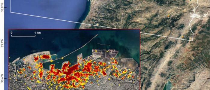 ناسا تنشر خريطة لحجم الدمار في بيروت