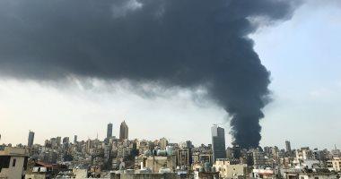 النتائج الأولية.. ارتفاع درجات الحرارة السبب في حريق مرفأ بيروت.. فيديو