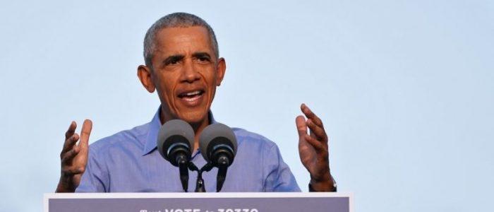 """أول ظهور لأوباما بتجمع انتخابي لبايدن.. الرئيس الأمريكي السابق شن هجوما """"قاسيا"""" على ترامب"""