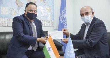 الهند تدعم اللاجئين الفلسطينيين بمليون دولار