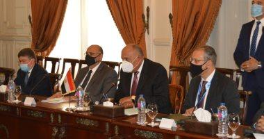 شكرى فى مؤتمر مشترك مع نظيره العراقى: نواجه تحديات إقليمية مشتركة