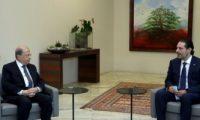 الرئيس اللبنانى يلتقى الحريرى وعدد من الكتل النيابية